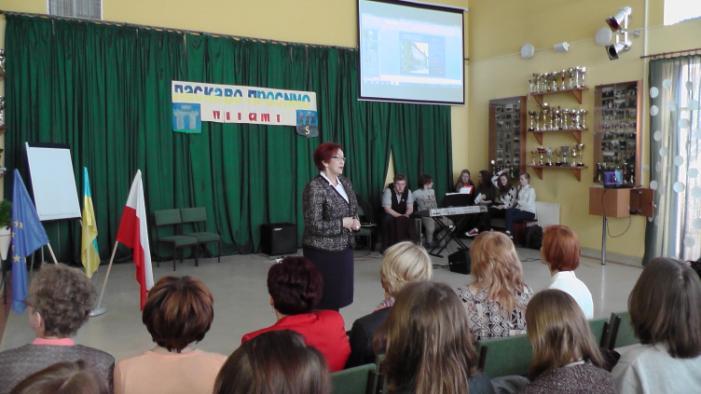 Spotkanie Starosty Kartuskiego, Pani Janiny Kwiecień, z uczestnikami projektu