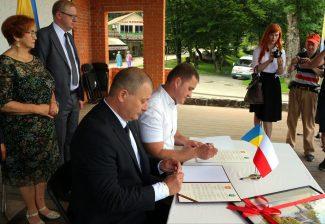 Podpisanie listów intencyjny Borysław - Starogard Gdański